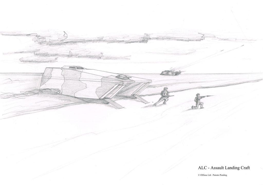 Assault Landing Craft Sketch
