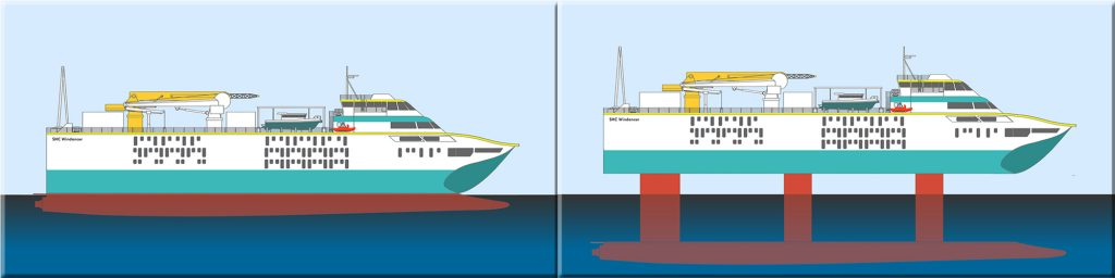 SHC Windancer Hull Up / Hull Down